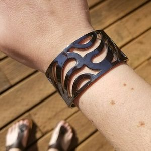 Gunmetal Cutout Bracelet